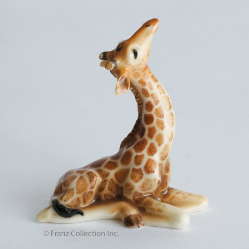 Franz Porcelain Giraffe Baby Figurine, FZ00486 ()