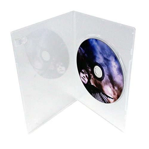 7mm Slim Single Clear DVD Cases, 100 Pack by Generic
