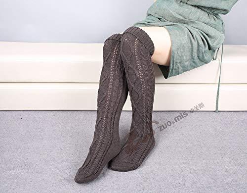 Montantes Acvip Taille Femme Gris Chaussettes Foncé Unique qazgPwa