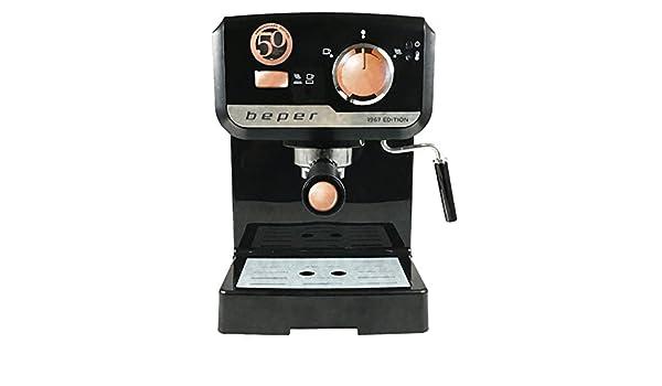 Máquina Café Espresso negro 1967 Edition - Beper BC.001: Amazon.es: Hogar