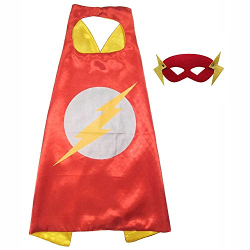 FASHION ALICE Superhero Superman CAPE & MASK SET Adult, Mens, Womens Halloween Costume Cloak Kids Girl And Boy Cape and Mask Costume for Child,Pretend Play,Dress Up,Parties (Male Costume Halloween)