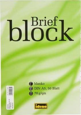 Briefblock / Schreiblock blanko DIN A5