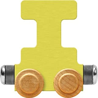 product image for Maple Landmark NameTrain Pastel Letter Car I - Made in USA (Yellow)