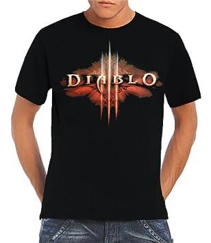 T Shirt Diablo Iiii Logo Sizes S Xl Black Black Size S Amazon Co