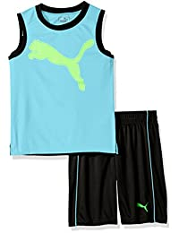 PUMA Boys 2 Piece Short and Muscle Set Tracksuit