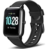"Letsfit Smart Watch, Fitness Tracker with Heart Rate Monitor, Activity Tracker with 1.3"" Touch Screen, IP68 Standard Pedometer Smartwatch with Sleep Monitor, Step Counter for Kids, Women and Men"