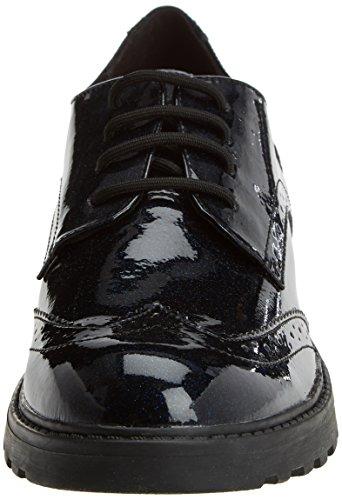Geox J Casey K, Zapatos de Cordones Brogue Unisex Adulto, Azul (Navy), 41 EU