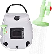 Yolife Solar Shower Bag, 5 Gallons/20L Portable Camping Shower Bag, Solar Heating Bag with On-Off Switchable S