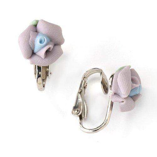 1928 Bridal Lavender Porcelain Rose Clip ()