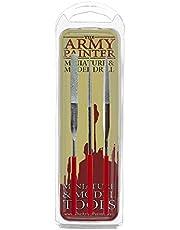 The Army Painter Miniatuur en modelvijlen | 3-delige diamantvijlset van ronde vijl, platte vijl en driehoekige metalen vijl voor plastic, hars en metaal | voor rollenspel, tabletop modelschilderen