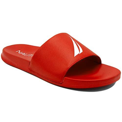 - Nautica Men's Stono Athletic Slide Comfort Sandal-Truchun-Red-7