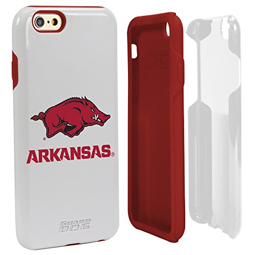 NCAA Arkansas Razorbacks Hybrid IPhone 6 Case, White, One Size (Cell White Razor Phone Case)