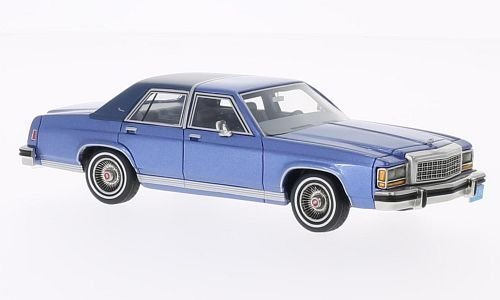 ford-ltd-crown-victoria-met-blue-matt-blue-limited-edition-1987-modellauto-ready-made-bos-models-143