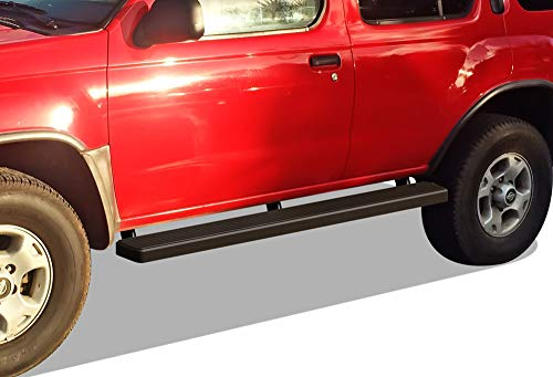 (APS iBoard Running Boards (Nerf Bars | Side Steps | Step Bars) for 2001-2007 Ford Escape Sport Utility 4-Door | (Black Powder Coated 5 inches) )