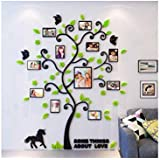 3d Arcylic DIY Family Photo Frame Tree Wall Sticker Home Decor Living Room Bedroom Art Picture Frame Wall Decals Poster-ee
