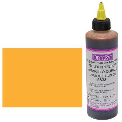 (Golden Yellow Premium Airbrush Color 8 oz )