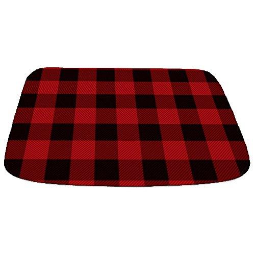 CafePress Cottage Buffalo Plaid Lumberjack Decorative Bathmat, Memory Foam Bath Rug