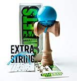 Sweets Kendamas Radar Prime Kendama - Sticky Paint, Perfect for Beginners, Extra String Accessory Bundle (Blue)