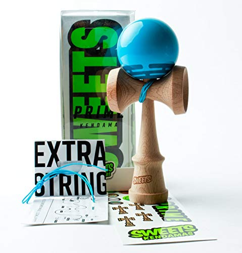 Sweets Kendamas Radar Prime Kendama - Sticky Paint, Perfect for Beginners, Extra String Accessory Bundle (Blue) by Sweets Kendamas (Image #7)