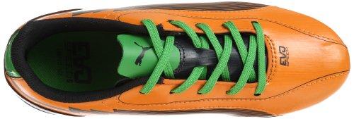Puma evoSPEED 5 FG Jr 102595 Unisex - Kinder Sportschuhe - Fußball Orange (flame orange-team charcoa 02)