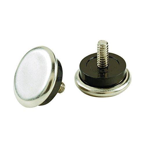 Shepherd Hardware 9450 1-1/16-Inch Threaded Stem Furniture Glides, 1/4-Inch Stem Diameter, Metal Base with Rubber Cushion, 4-Pack by Shepherd Hardware by Shepherd Hardware
