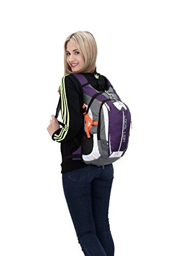Outdoor Sports Cycling Hiking Camping Travel Daypack, Water resistant, 18L(purple) by YOGOGO (Image #7)