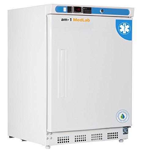 "am-1 AM-LAB-UC-FSP-04 Undercounter Medical/Laboratory Freezer, MedLab Premium 4.2 cu. ft,33.4"" H, 23.75"" L, 23.75"" W, White"