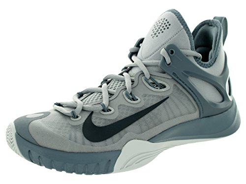 Nike Men's Air Zoom HyperRev 2015 Basketball Shoe Wolf Grey/Platinum/Charcoal Size 10 M US