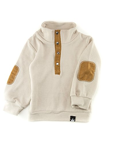 Tan Boys Shirt (Littlest Prince Couture Kid's Tan Thermal Vegan Suede Shirt Size 6)
