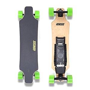 Amazon.com : Genesis Hellfire Electric Skateboard  Green Wheels : Sports \u0026 Outdoors