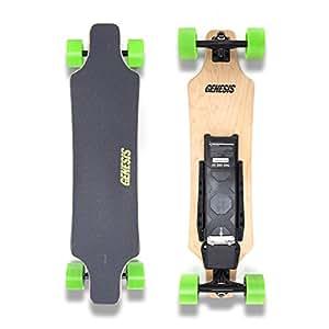 Genesis Hellfire Electric Skateboard - Green Wheels
