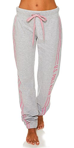 U.S. Polo Assn. Womens Printed Lounge Pajama Sleep Sweatpants Heather Grey Medium by U.S. Polo Assn.