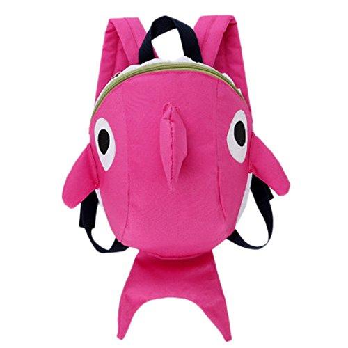 Wffo Toddler School Bag, Cartoon Animal Backpack for Children Baby Girls Boys Kids (Pink)