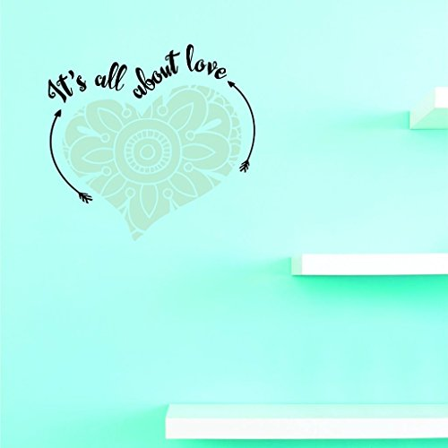 Top Selling Decals Its All About Love Wall Art Size: 16 Inches X 16 Inches