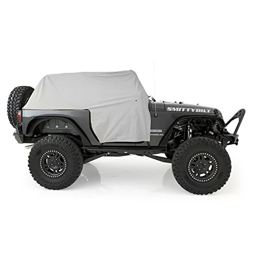 Water Resistant Cab Cover - Smittybilt 1068 Gray Water-Resistant Cab Cover with Door Flap