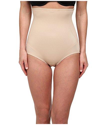 TC Fine Intimates Women's Back Magic Luxury Hi Waist Brief, Nude, XL