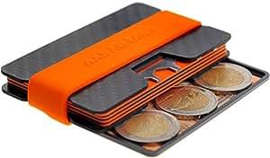 AARÁNDANO ™ Tarjetera con BLOQUEO RFID | Hecha de CARBONO | SEGURIDAD | Tarjeta Multiusos | PROTECCIÓN hasta 16 Tarjetas Crédito | Pinza para Billetes ...