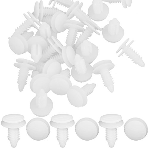 (uxcell 25 Pcs 9mm White Door Panel Clip Rivet Retainer Clips # 6503709 For Chrysler)