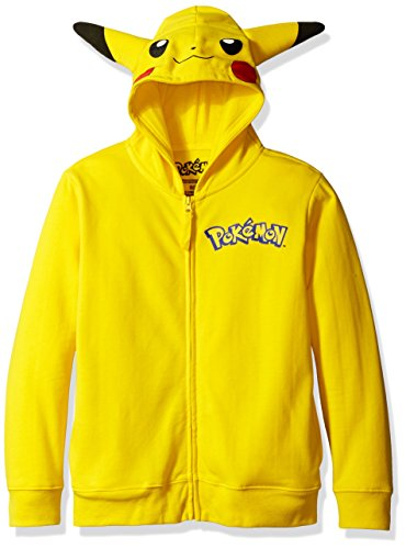 Pokemon Big Boys Pikachu Costume Hoodie, Yellow, Medium-10/12 ()