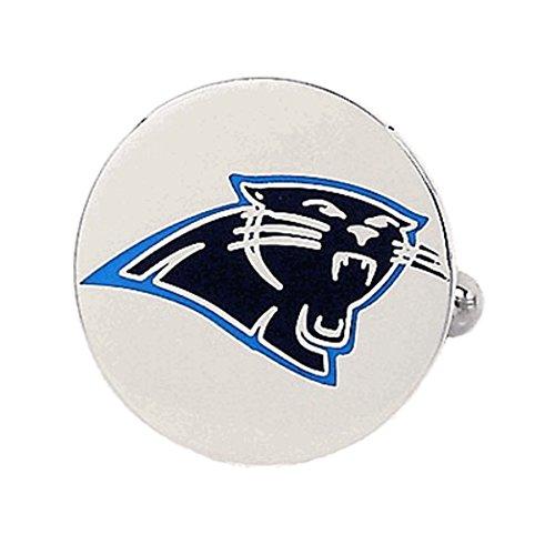 Cufflinks Metal Mens Cuff Links Nickel Plated Carolina Panthers Logo Multicolored Carolina Panthers Cufflinks