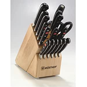 Wusthof Knife Block Set w/ Gourmet Stamped Steak Knives - Deluxe, 18 Pieces