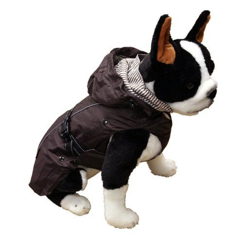One for Pets All Season Dog Coat with Removable Fleece Lining, 22-Inch, Brown by One for Pets