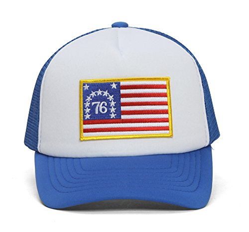 United States Original 13 Colonies '76 Royal/White Trucker Hat