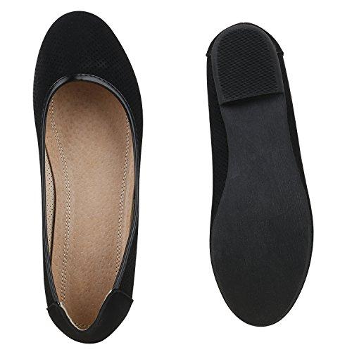 WoMen Black Stiefelparadies WoMen Stiefelparadies Flats Ballet 6E4xqx0nZ
