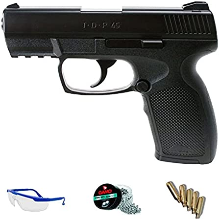 PACK pistola de aire comprimido Umarex TDP45 CO2 calibre 4.5mm <3,5J