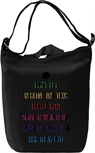 Don't Let Negative And Toxic People Borsa Giornaliera Canvas Canvas Day Bag| 100% Premium Cotton Canvas| DTG Printing|