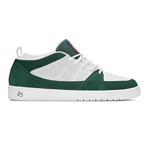 ES SLB MID Skateboard Shoes, Green Suede/White Leather, Ltd Edition (UK10)