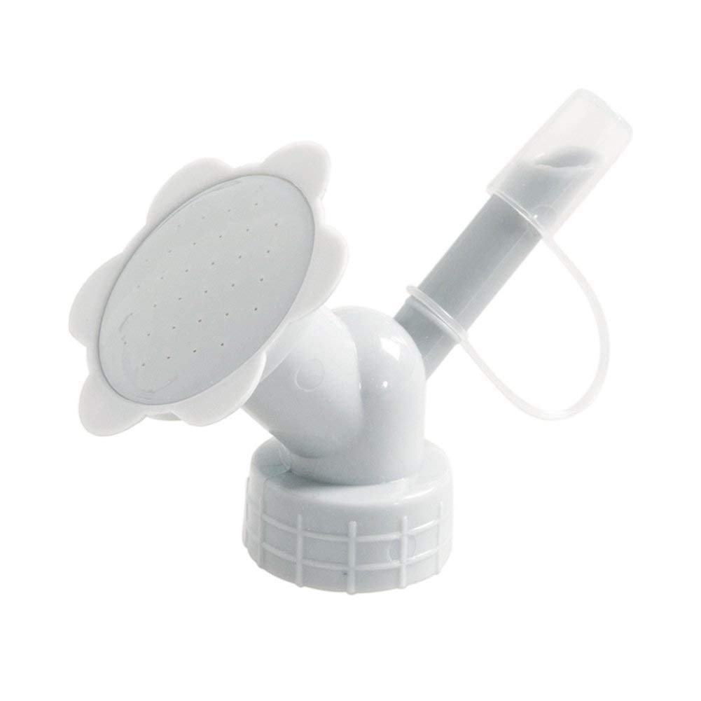 Hemore Bottle Cap Sprinkler 2 in 1 Plastic Sprinkler Nozzle for Flower Bottle Watering Cans Shower Head Garden Tool Grey Color Health Baby Care