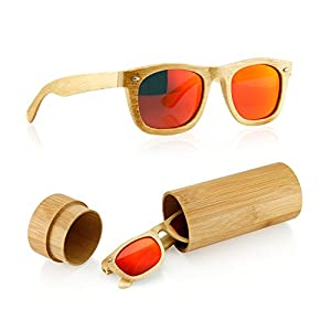 Polarized Bamboo lightweight Wood Wayfarer Vintage Sunglasses Men Women Eyewear