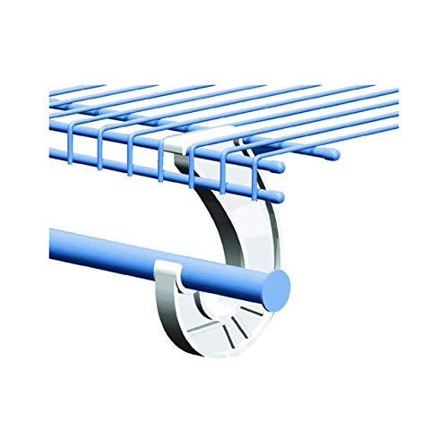 SuperSlide White Closet Rod Support Pack of 4
